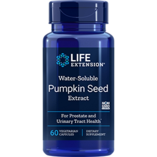 Life Extension Water-Soluble Pumpkin Seed Extract, 60 Veggie capules