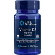 Vitamin D3, 125 mcg (5000 IU),  60 softgels