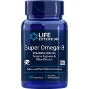Omega-3 EPA/DHA FisH oil w Ses ame & Olive Ext,60 S