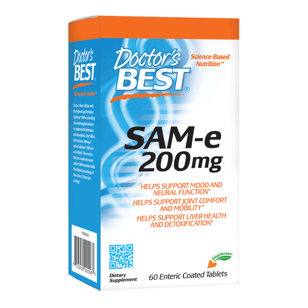 Doctor's Best SAM-e 200 mg 60 Enteric Coated Tablets
