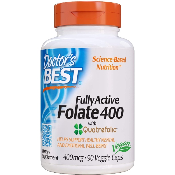 Doctor's Best Folate, 400mcg x  90VCaps