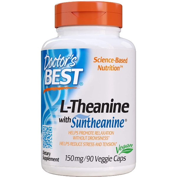 Doctor's Best L-Theanine, Suntheanine, 150mg x 90VCaps