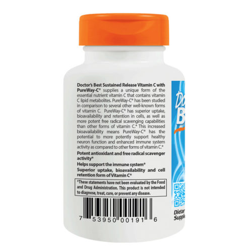 Vitamin C,PureWay-C, 500mg x 60Tabs,Sustained Rel.