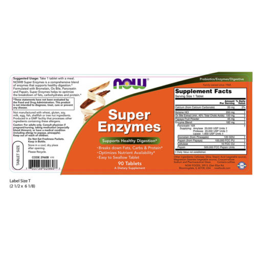 Enzymes Super, 90 Tabs
