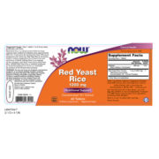 Red Yeast Rice, 1200mg x 60 Tabs