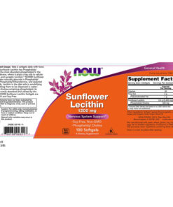 Lecithin, Sunflower, 1200mg x 100 SGels