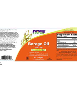 Borage Oil, 1000mg x 60Sgels