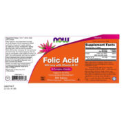 Folic Acid, 800mcg x 250VTabs + 25mcg B-12