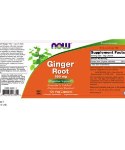 GINGER ROOT, 550mg x100 VCaps