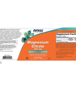 Magnesium Citrate, 200mg x250Tabs