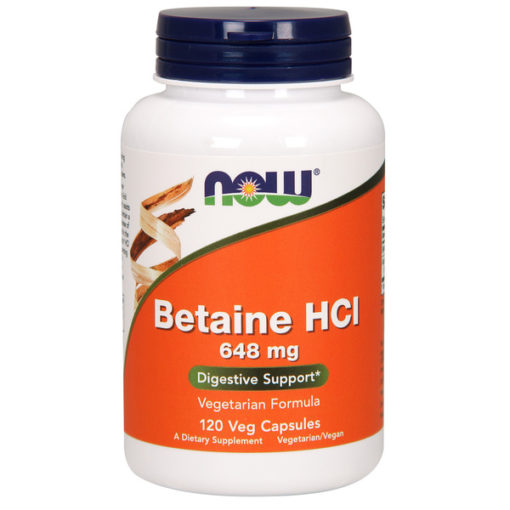 Betaine HCL, 648mg x 120Caps