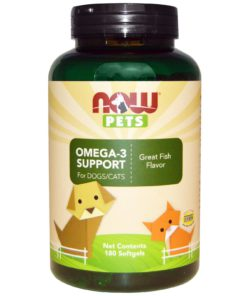 Now Foods, Pets, Omega-3 Support for Dogs/Cats, Great Fish Flavor, 180 Softgels